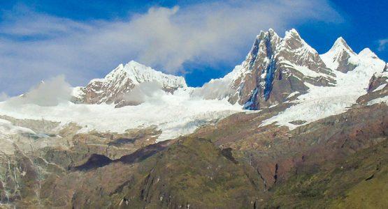 Panoramic view of Apamayo to Pomabamba trek in Peru