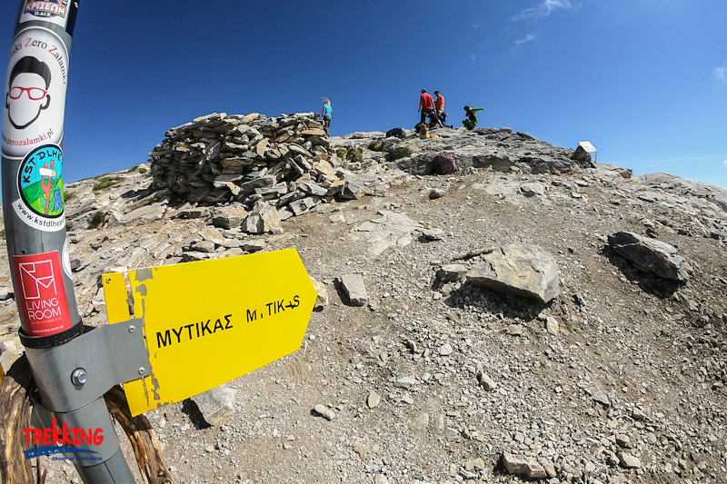 Signpost on guided climb to Mount Olympus, Greece