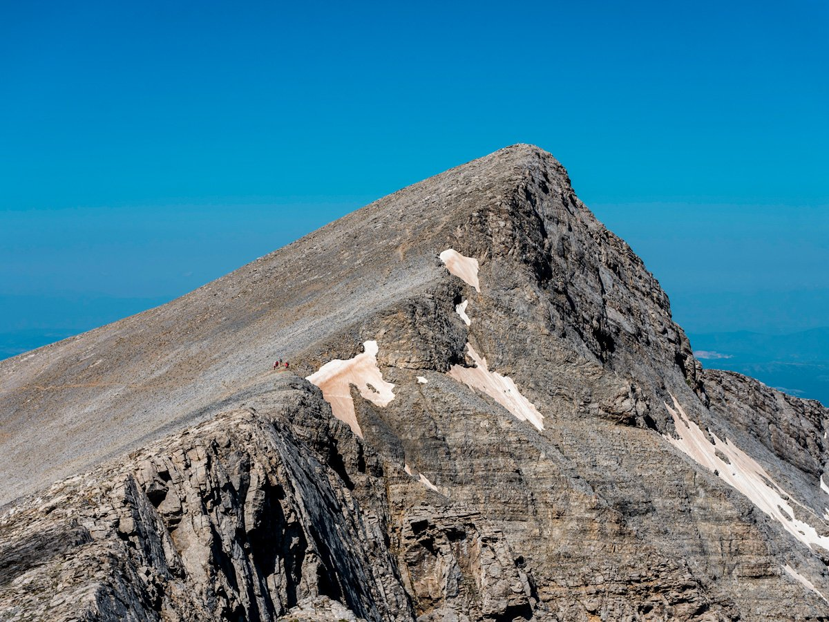 Trail to Mt Olympus on guided climb to Mount Olympus, Greece