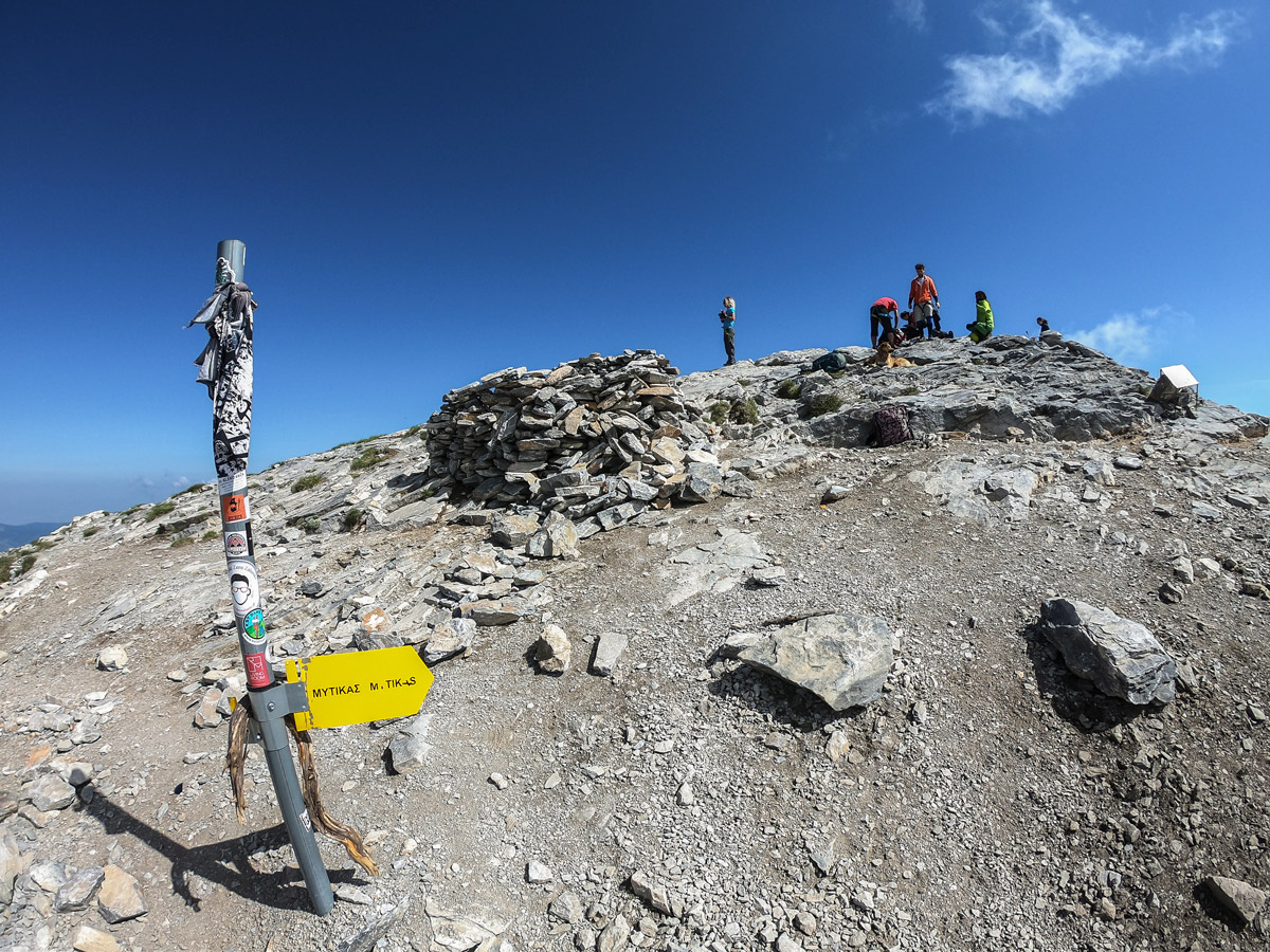 Summit of Mount Olympus on guided climb to Mount Olympus, Greece