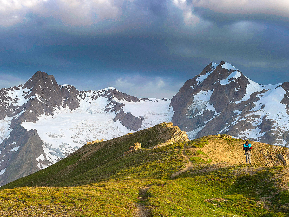 Self guided trekking views on Tour de Mont Blanc trek
