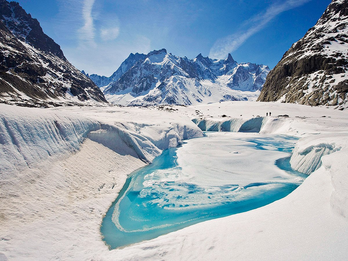 Stunning views trekking on self-guided Tour du Mont Blanc in French Alps