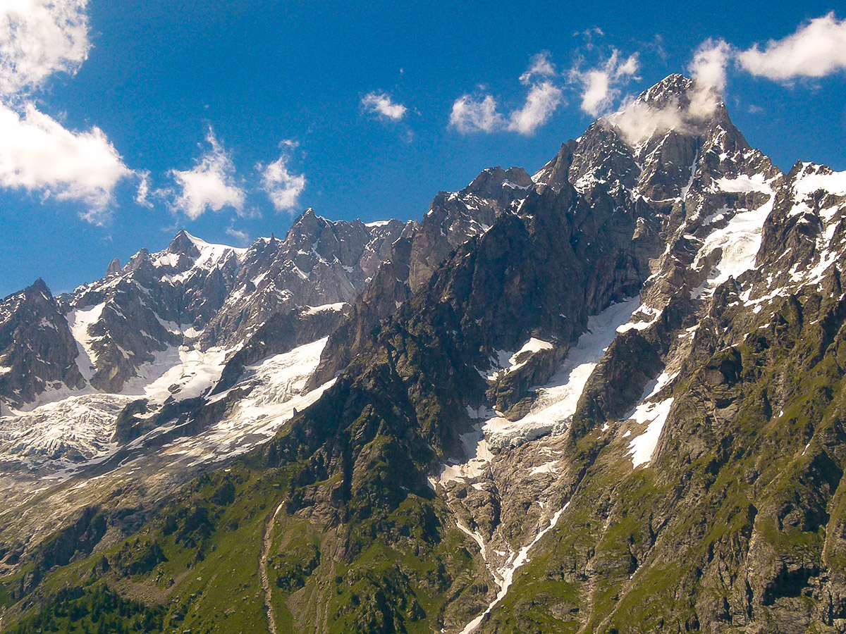 Beautiful mountain on Tour de Mont Blanc in French Alps