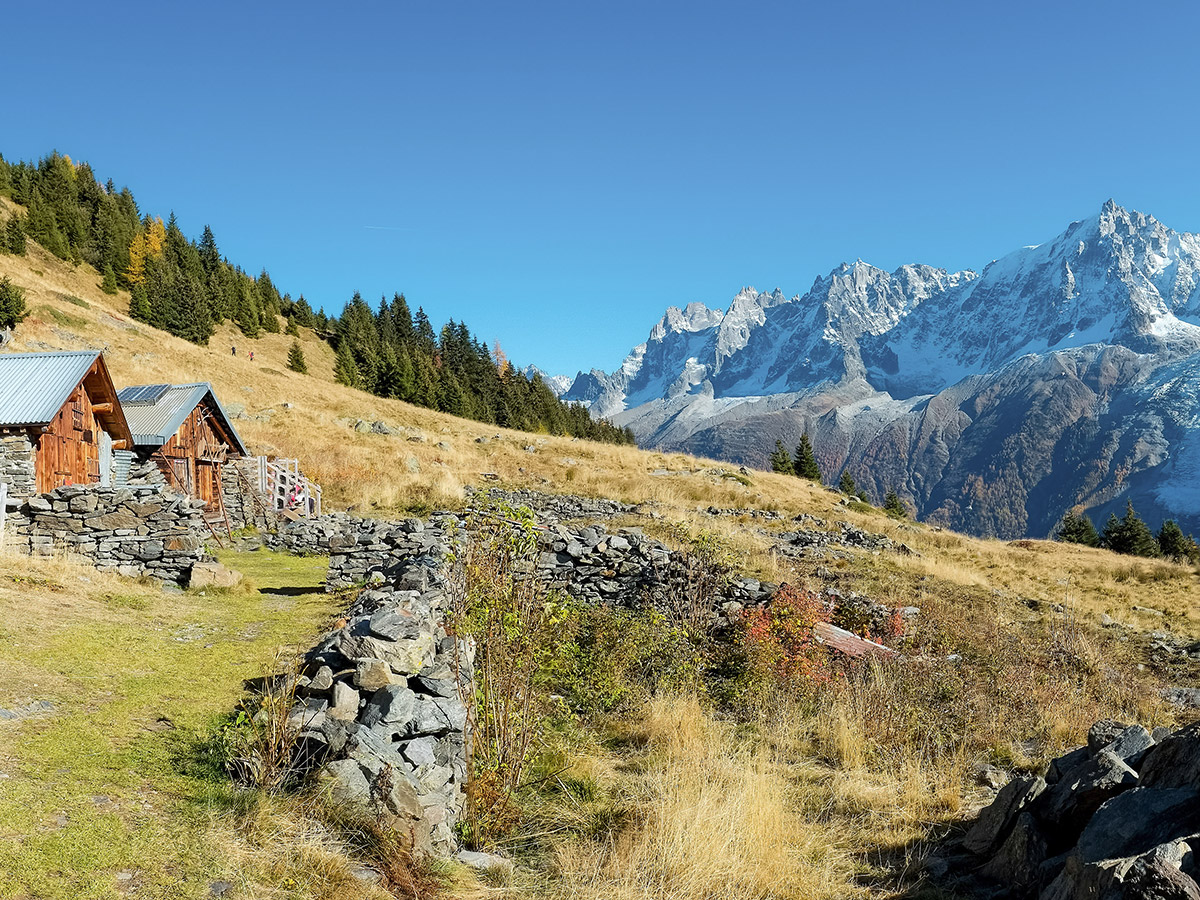 Self guided trekking on Tour de Mont Blanc in French Alps