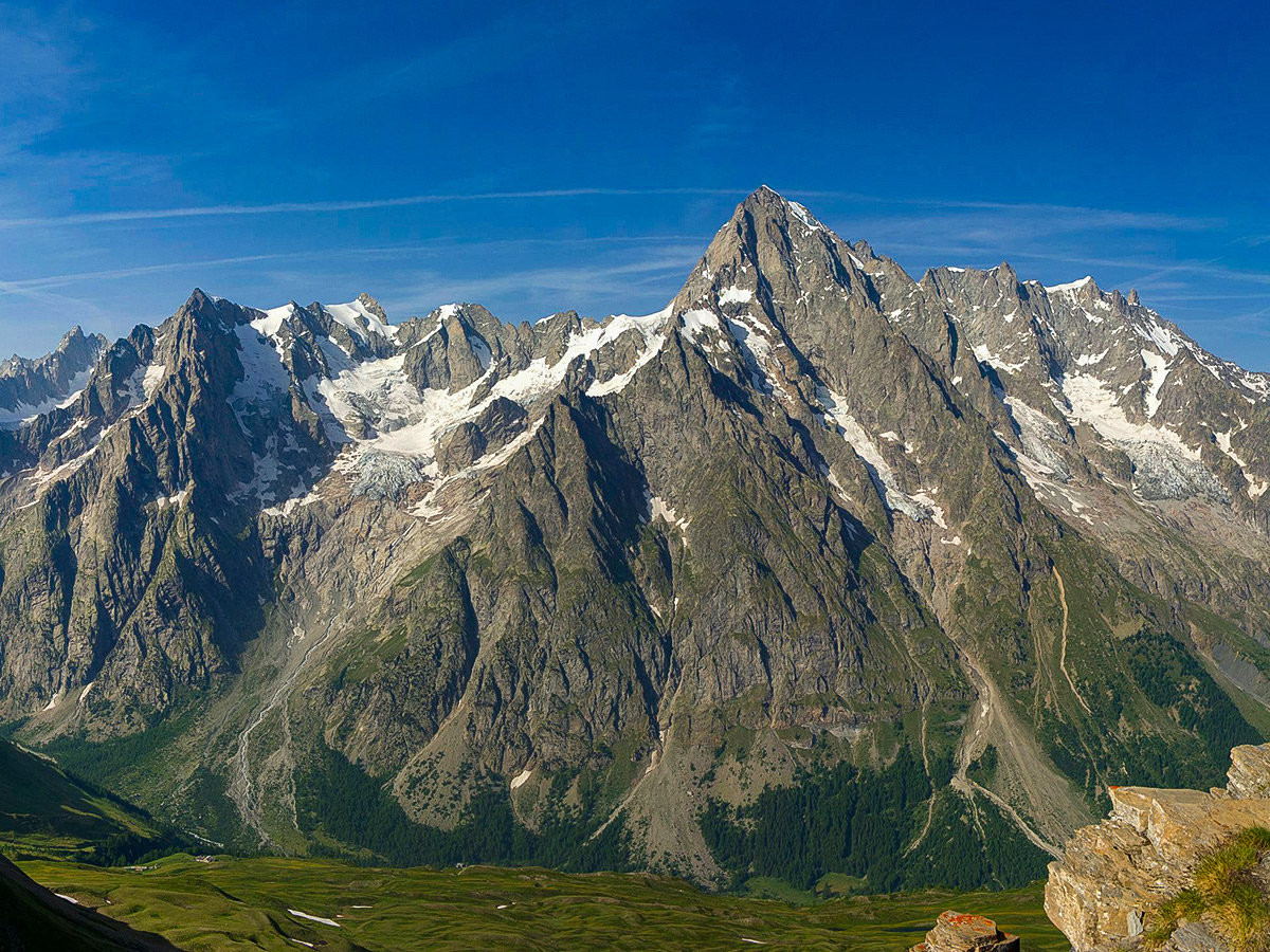 Views on Tour de Mont Blanc in French Alps