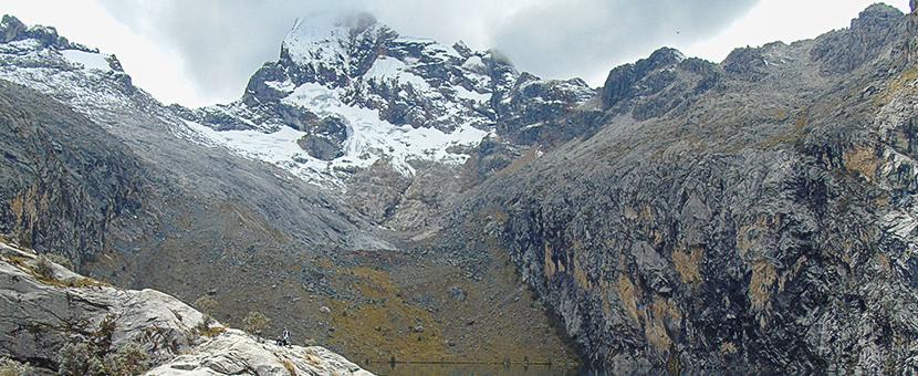 Mountain views on guided hike from Huaraz, Peru