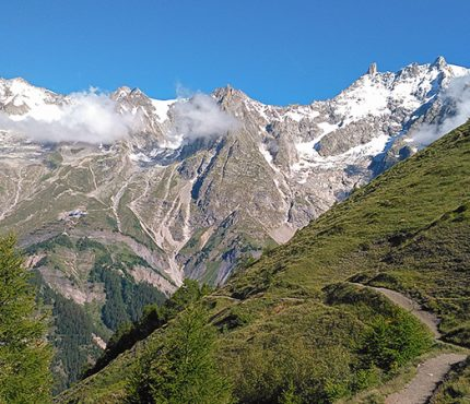 Scenery from Tour de Mont Blanc near Chamonix
