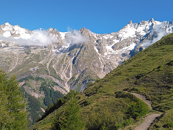 Scenery from Tour de Mont Blanc near Chamonix