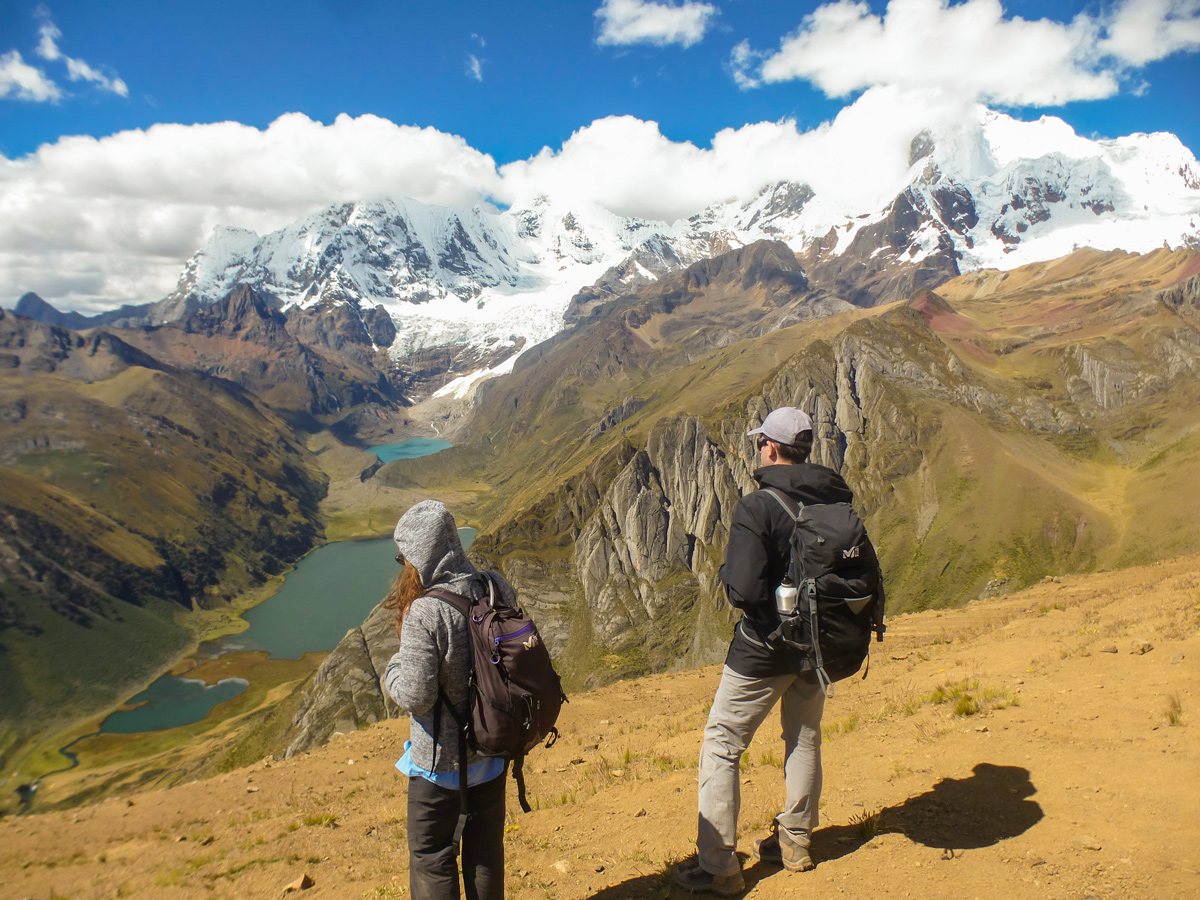 Beautiful views on standart Huayhuash circuit trek, Peru