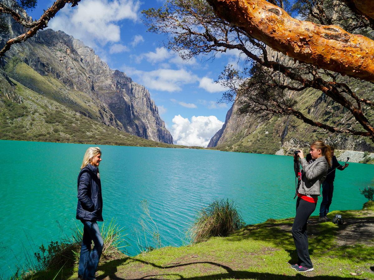 Turquoise water along Alpamayo trek in Cordillera Blanca, Peru