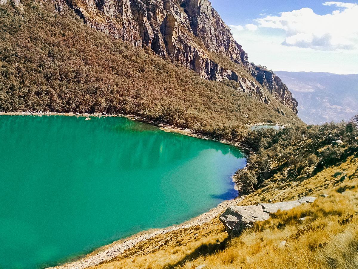 Uruscocha near Huaraz on a guided tour