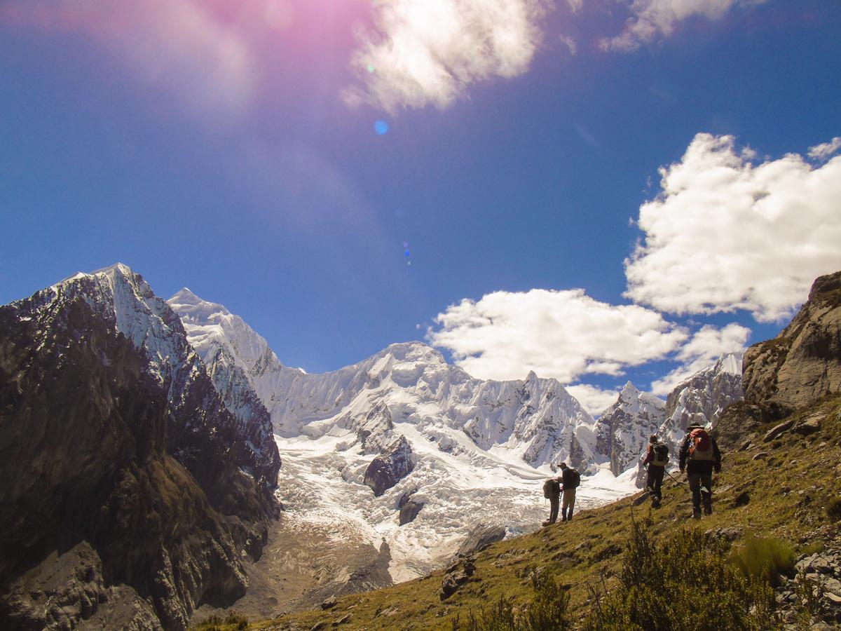 Beautiful Andean peaks on Huayhuash circuit trek, Peru