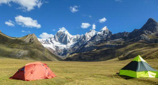 Campsites on Huayhuash circuit trek, Peru
