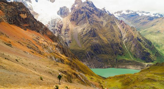 Beautiful views on Huayhuash trek, Peru