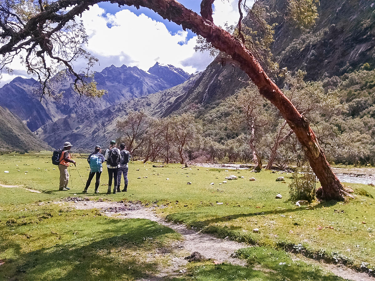 Hiking the Andes on Santa Cruz trek with guide in Peru