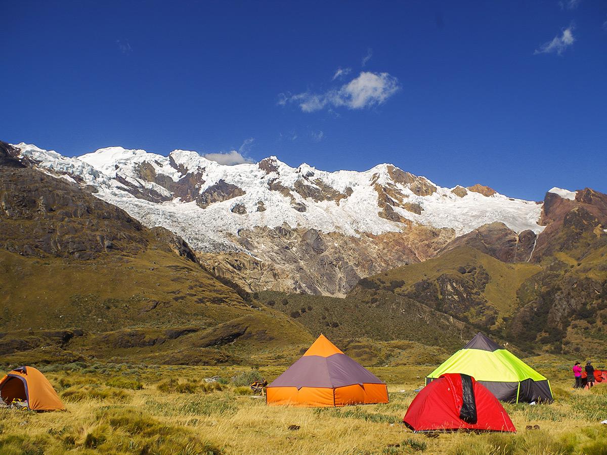 Camping on the Santa Cruz trek with guide in Peru