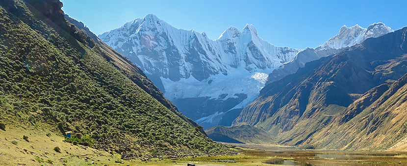 Great scenery on Huayhuash trek, Peru
