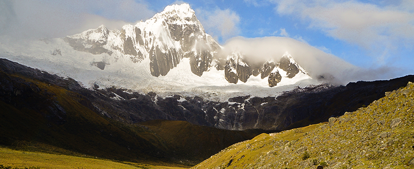 Beautiful mountain views on Santa Cruz trek with guide in Peru