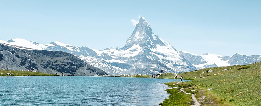 Beautiful Matterhorn on self-guided Haute Route to Zermatt in Switzerland