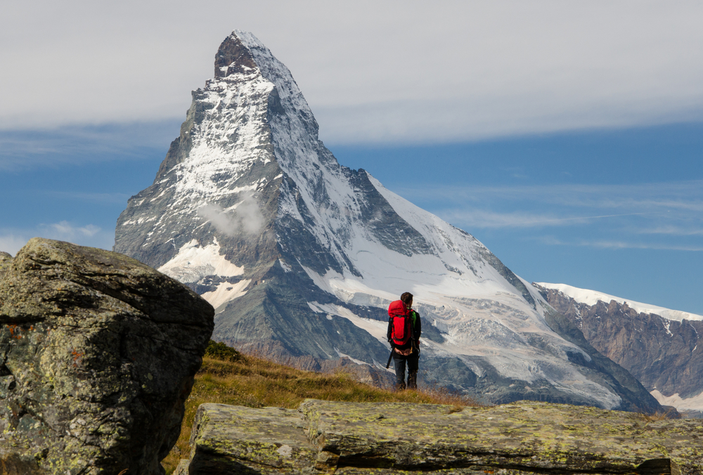 Matterhorn on self-guided Haute Route from Chamonix to Zermatt