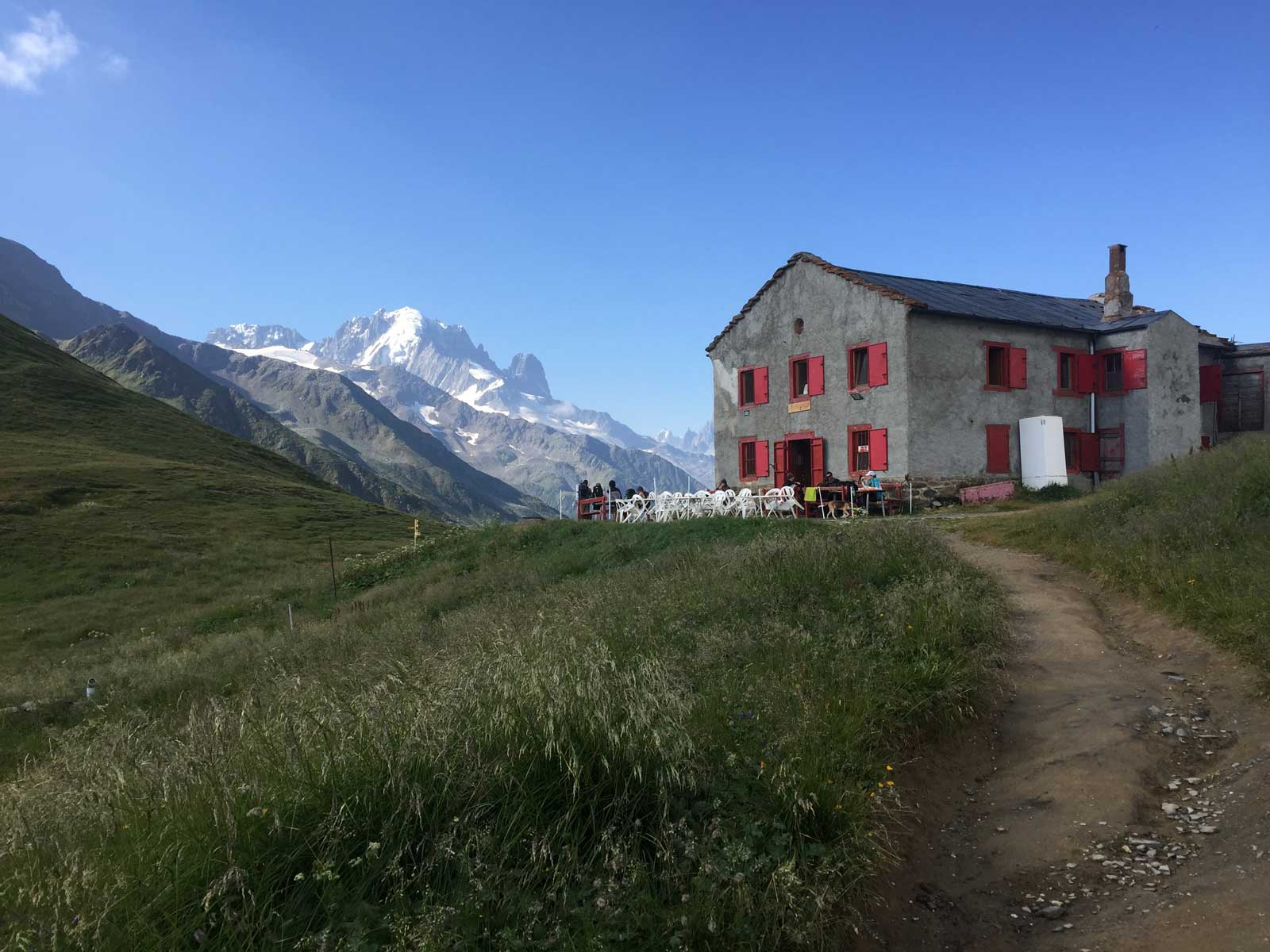 Refuge Col de Balme on self-guided Haute Route from Chamonix to Zermatt