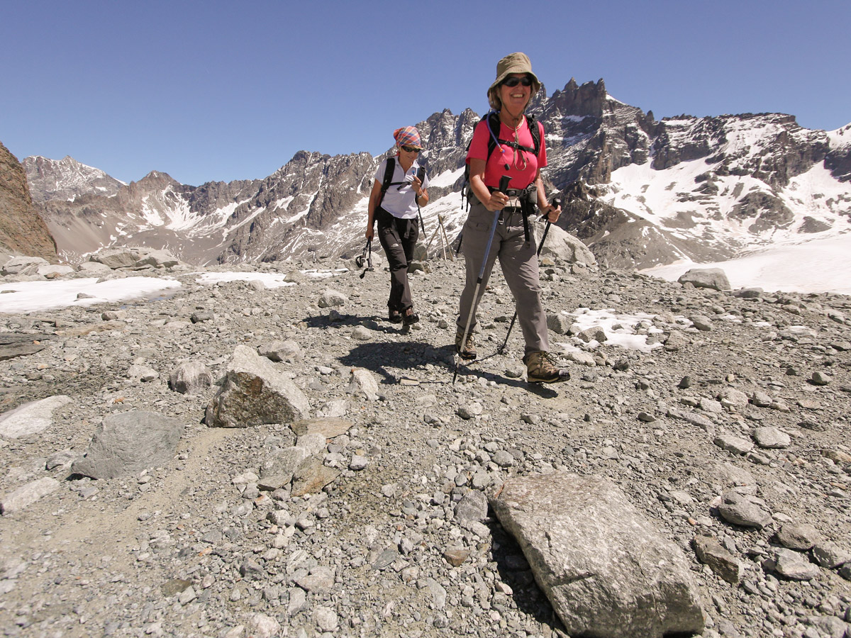 Happy hikers on self-guided Haute Route from Chamonix to Zermatt