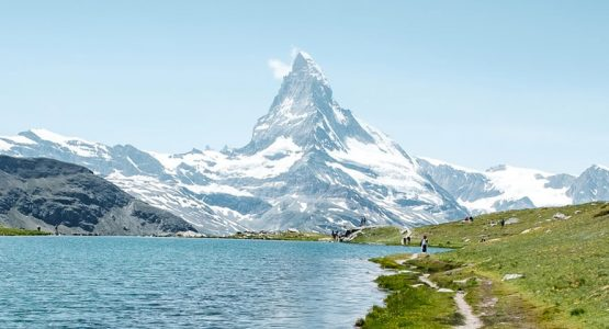 Panoramic view of Matterhorn on self-guided Haute Route from Chamonix to Zermatt