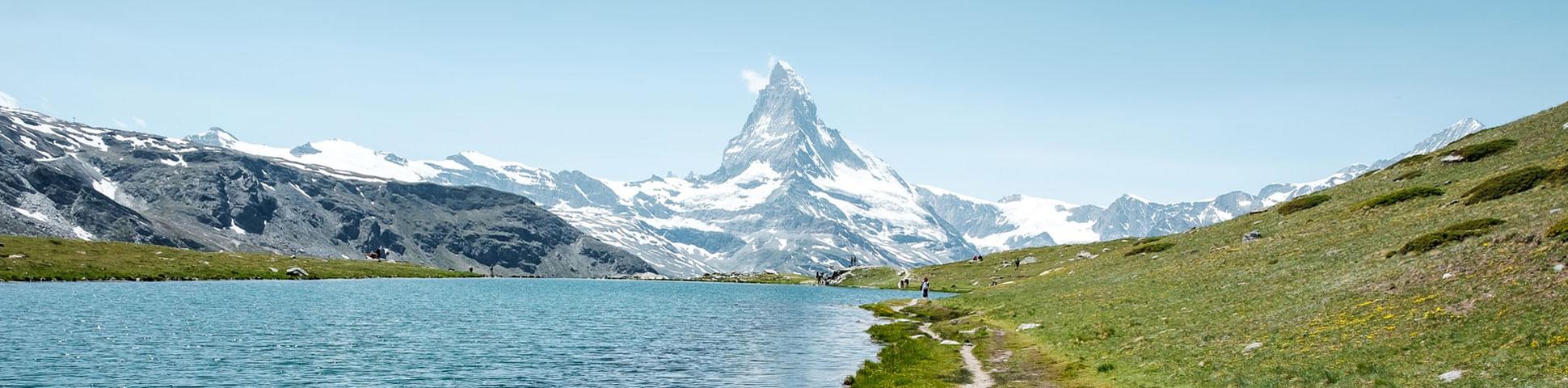 Panoramic view of Matterhorn on self-guided Haute Route from Chamonix to Zermatt