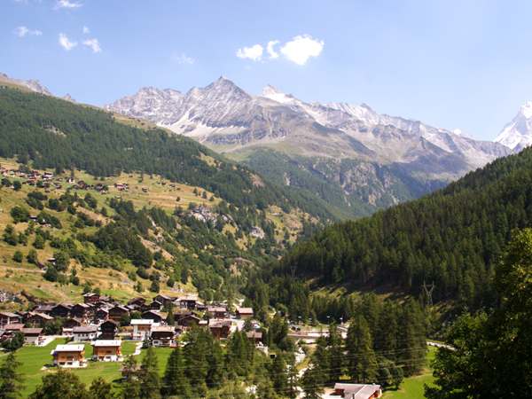 Beautiful villages in the valley on self-guided Haute Route from Chamonix to Zermatt