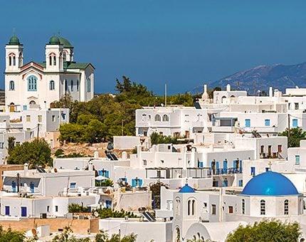 White houses on Greek Islands Multisport tour in Paros, Naxos and Santorini
