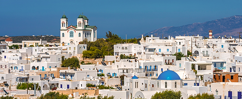 White houses on Greek Islands Multisport tour in Paros, Naxos and Santorini