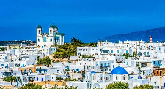 Beautiful Greek village on Greek Islands Multisport tour in Paros, Naxos and Santorini