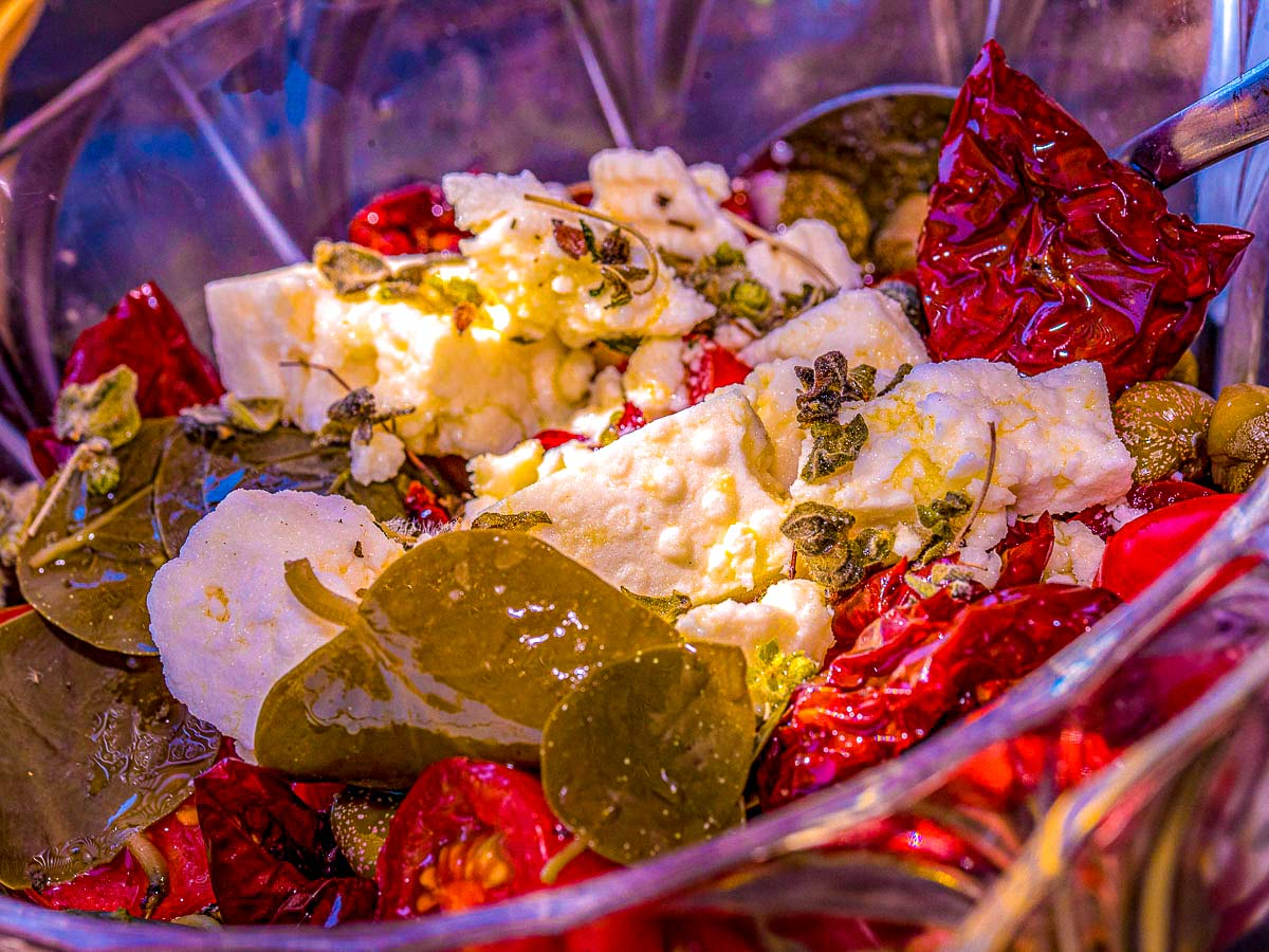 Greek food on Greek Islands Multisport tour in Paros, Naxos and Santorini