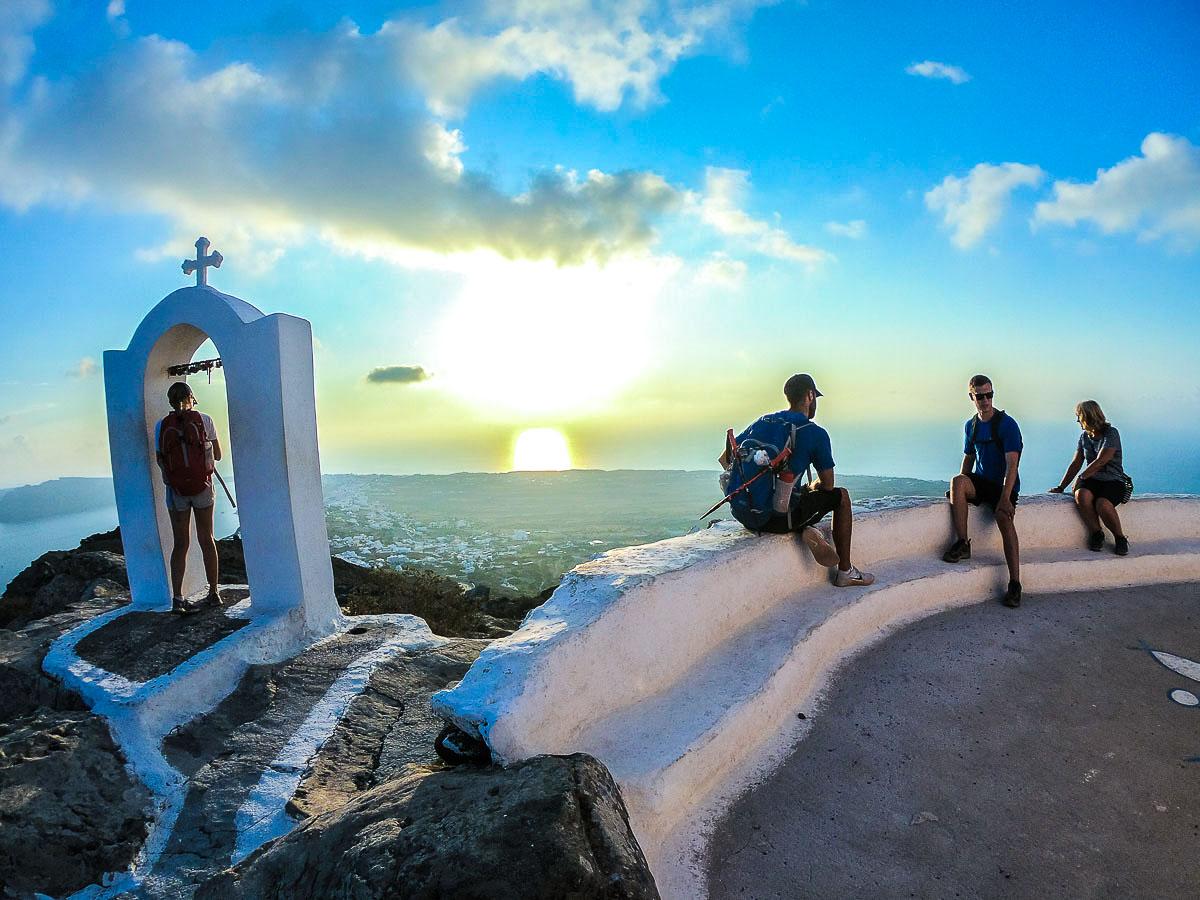 Hiking in Santorini on Greek Islands Multisport tour