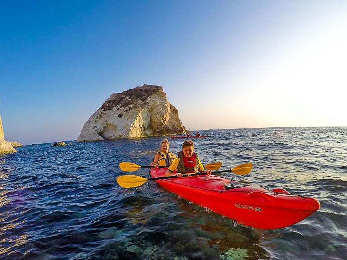 Sea Kayaking on Greek Islands Multisport tour in Paros, Naxos and Santorini