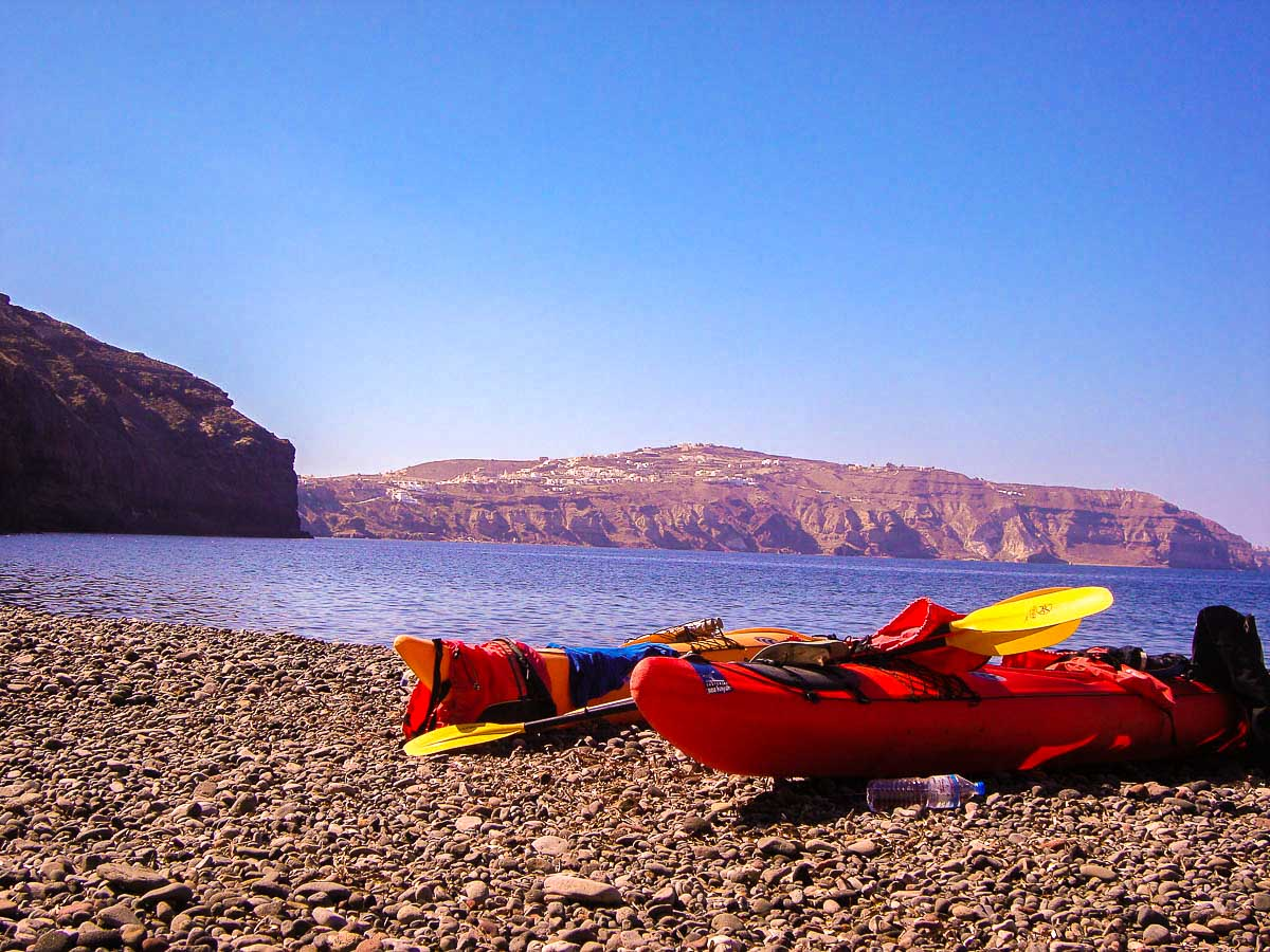 Beach views on Greek Islands Multisport tour