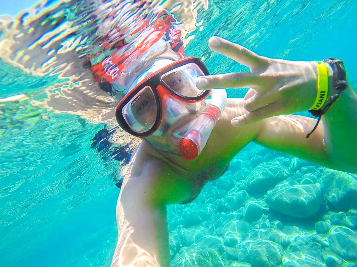 Snorkeling on Greek Islands Multisport tour in Paros, Naxos and Santorini