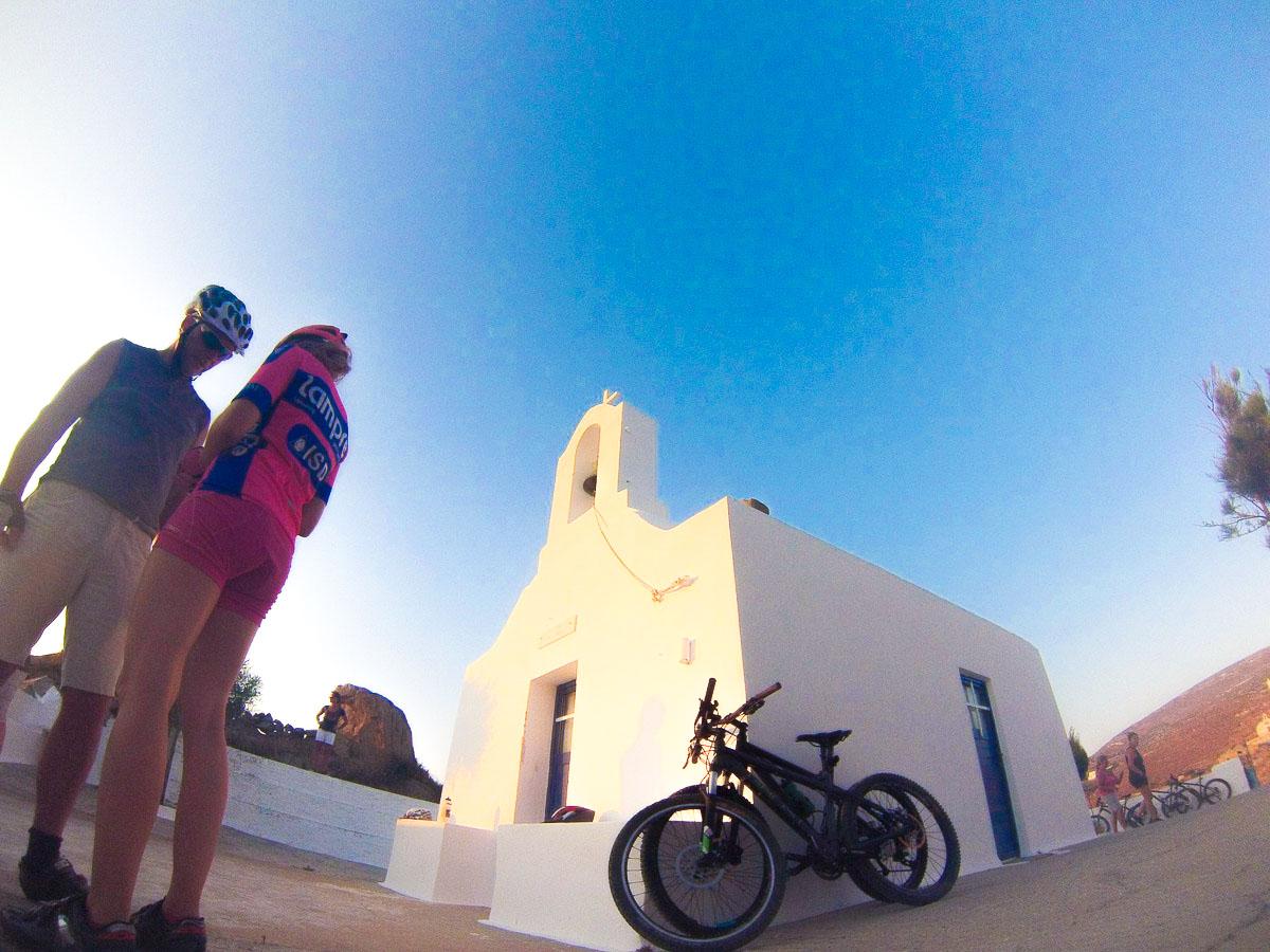 Beautiful views from bike ride on Greek Islands Multisport tour in Paros, Naxos and Santorini