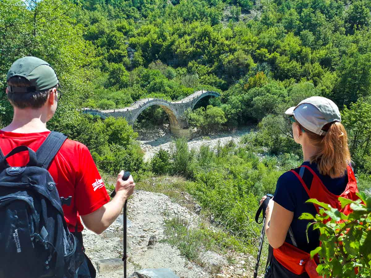 Beautiful ancient bridge in Northern Greece