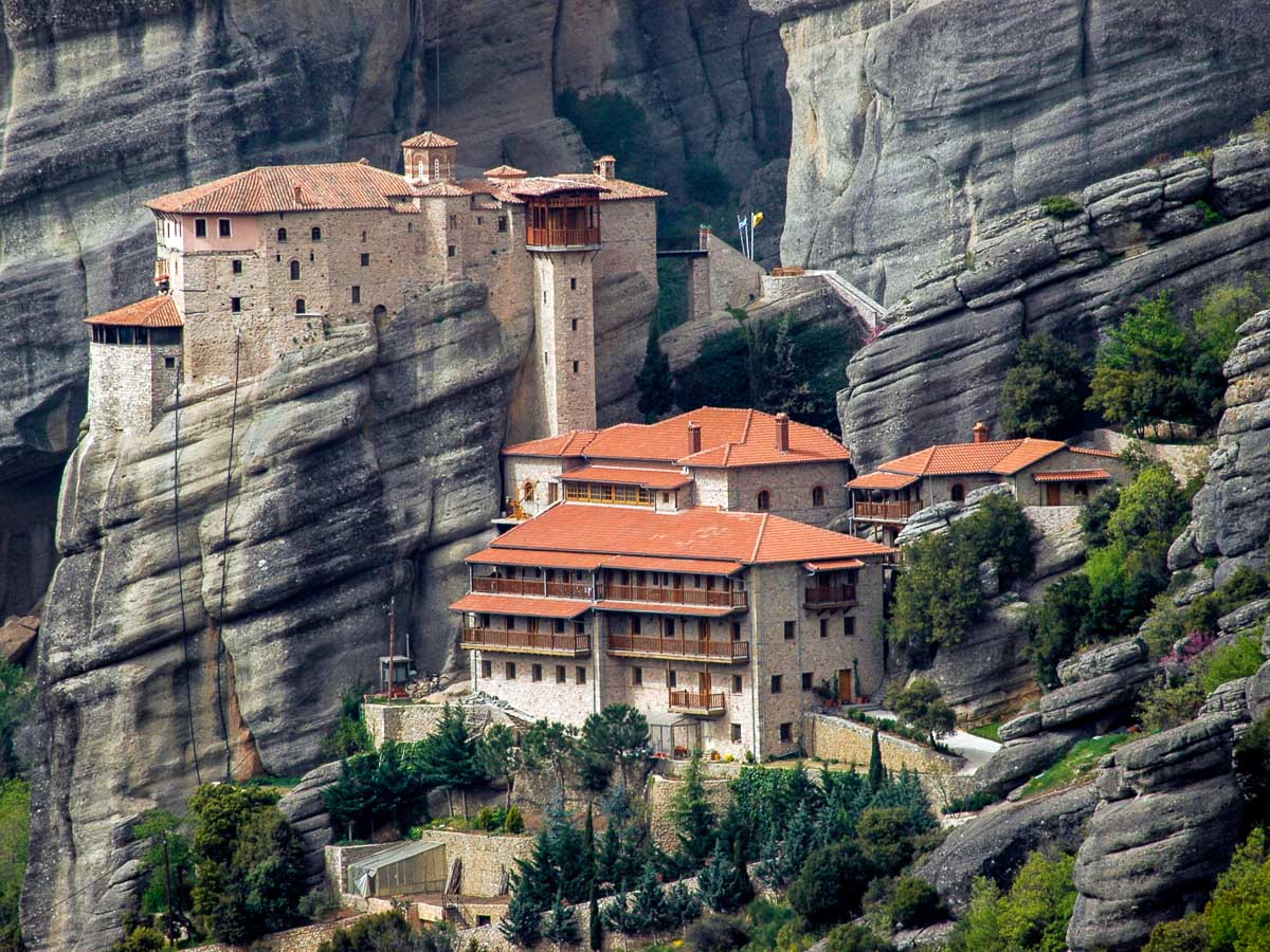 Beautiful villages built into the mountains in Greece