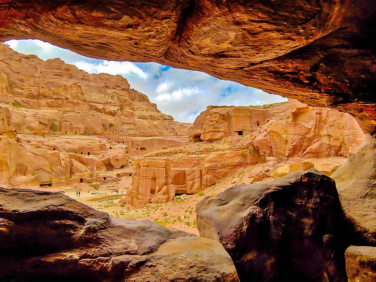 Valley near Petra on Dana to Petra Trekking Tour in Jordan
