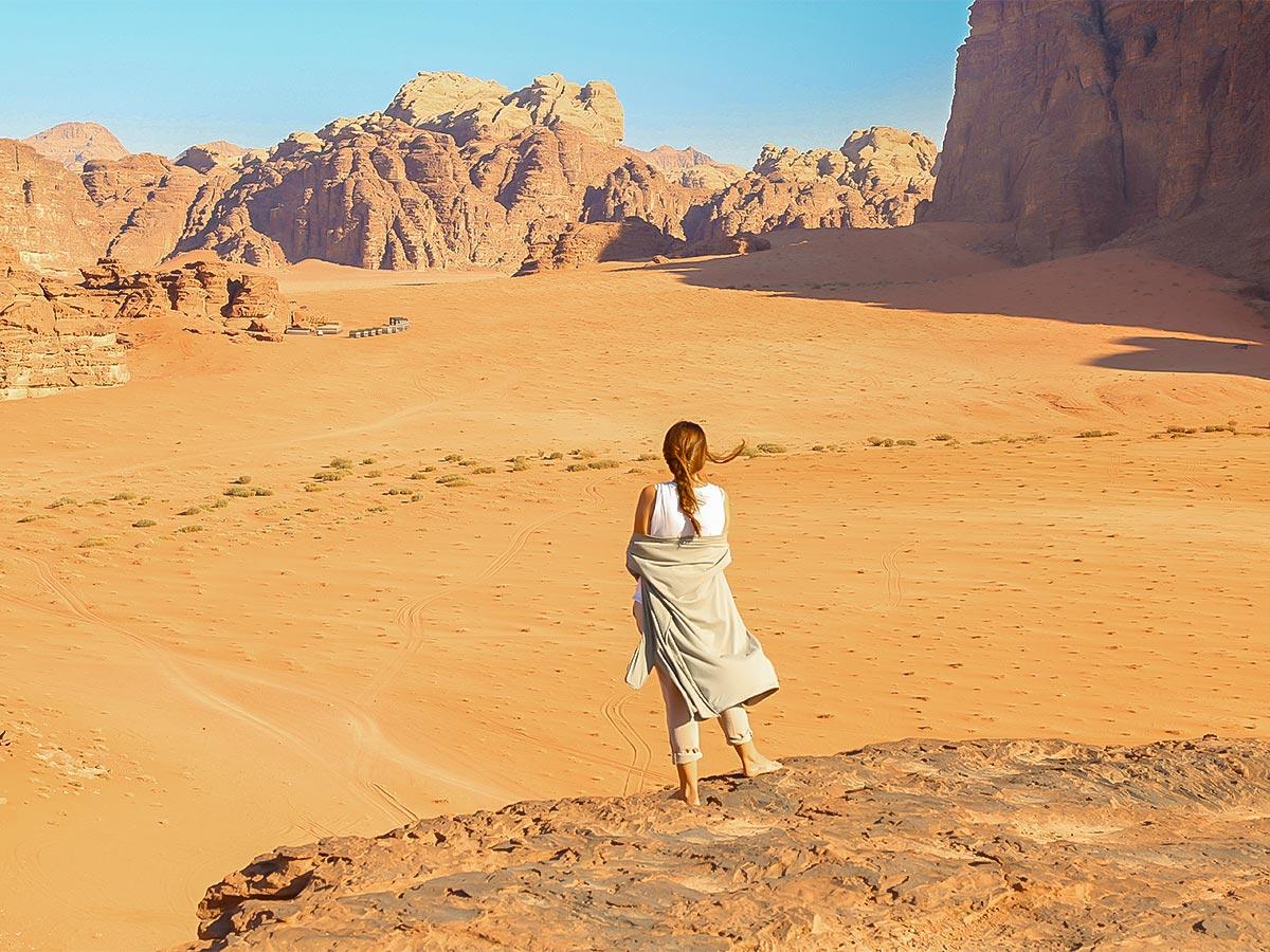 Desert along Dana to Petra Trekking Tour in Jordan