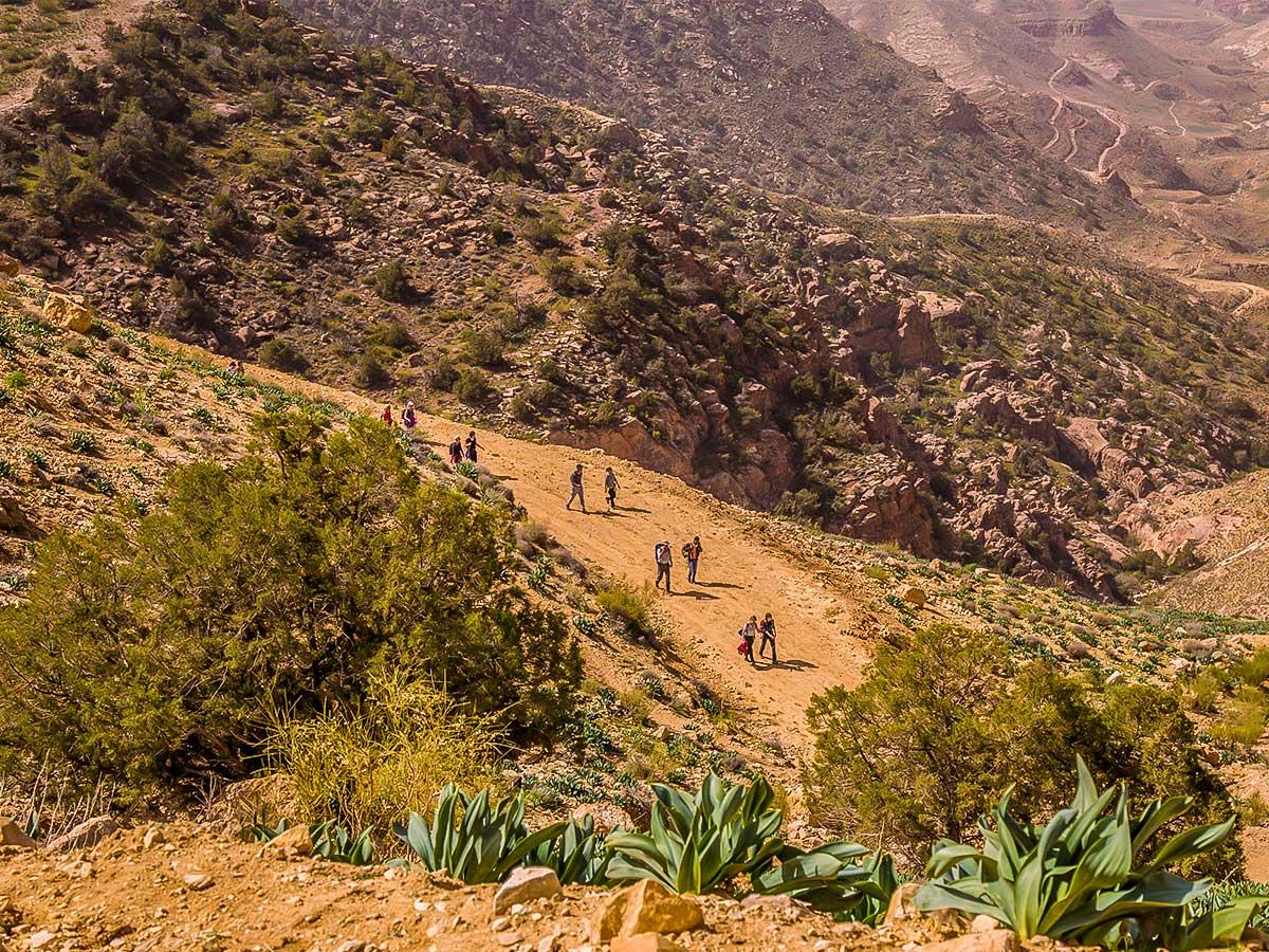 Beautiful scenery on Dana to Petra Trekking Tour in Jordan