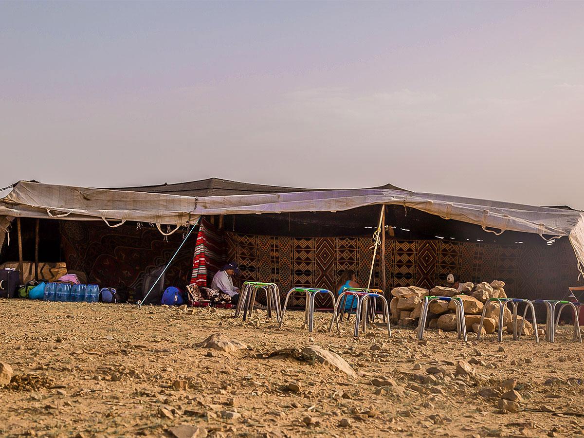 Camping on Dana to Petra Trekking Tour in Jordan
