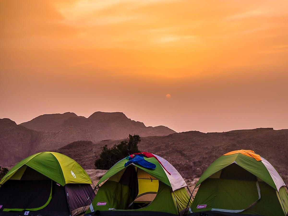 Beautiful sunset on Dana to Petra Trekking Tour in Jordan