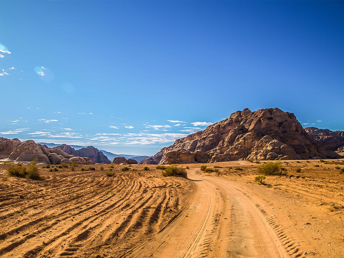 Beautiful views on Dana to Petra Trekking Tour in Jordan