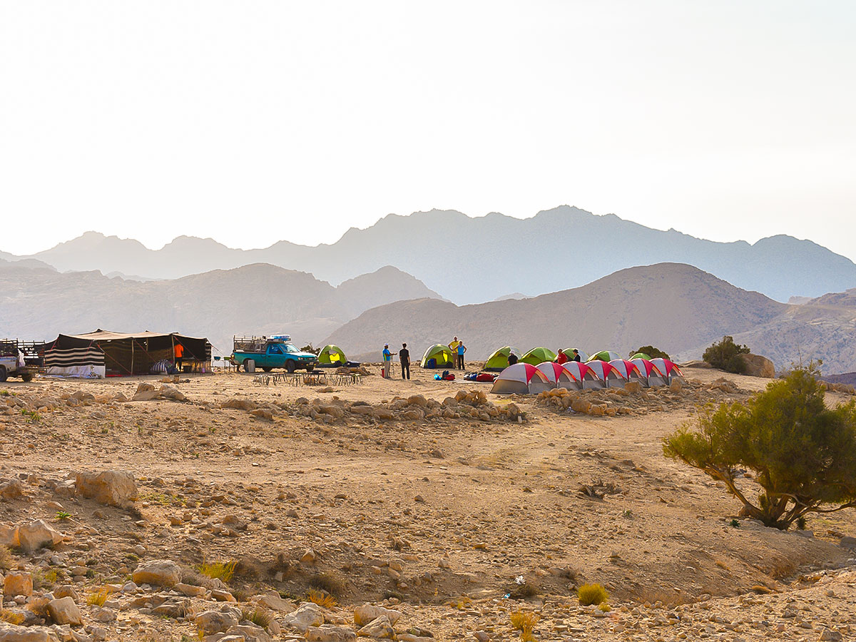 Camp on Dana to Petra Trekking Tour in Jordan