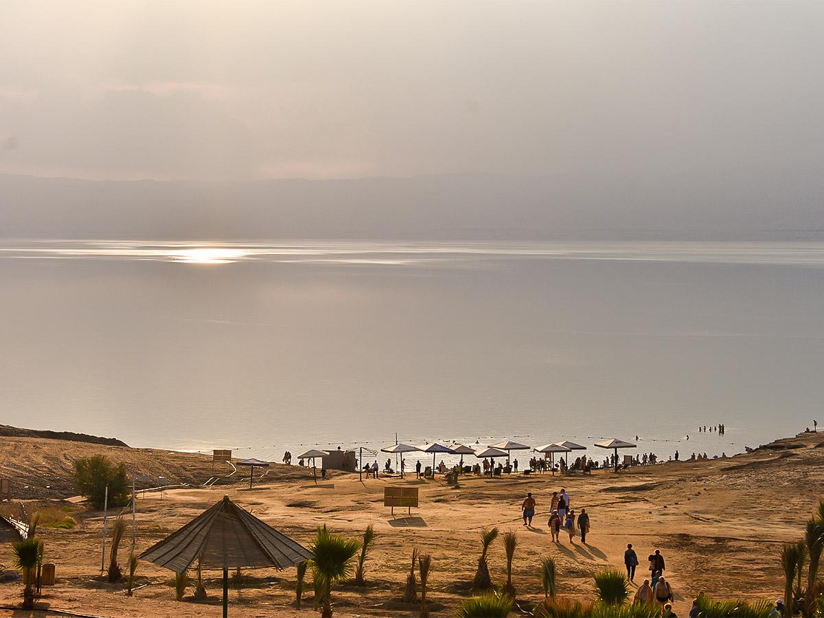 Dead Sea on Dana to Petra Trekking Tour in Jordan