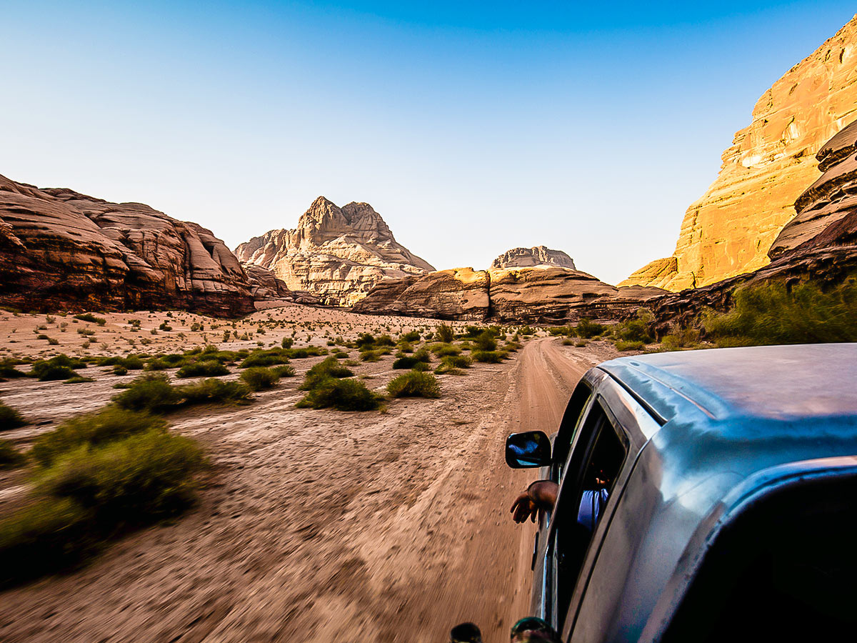 Wadi Rum on Dana to Petra Trekking Tour in Jordan