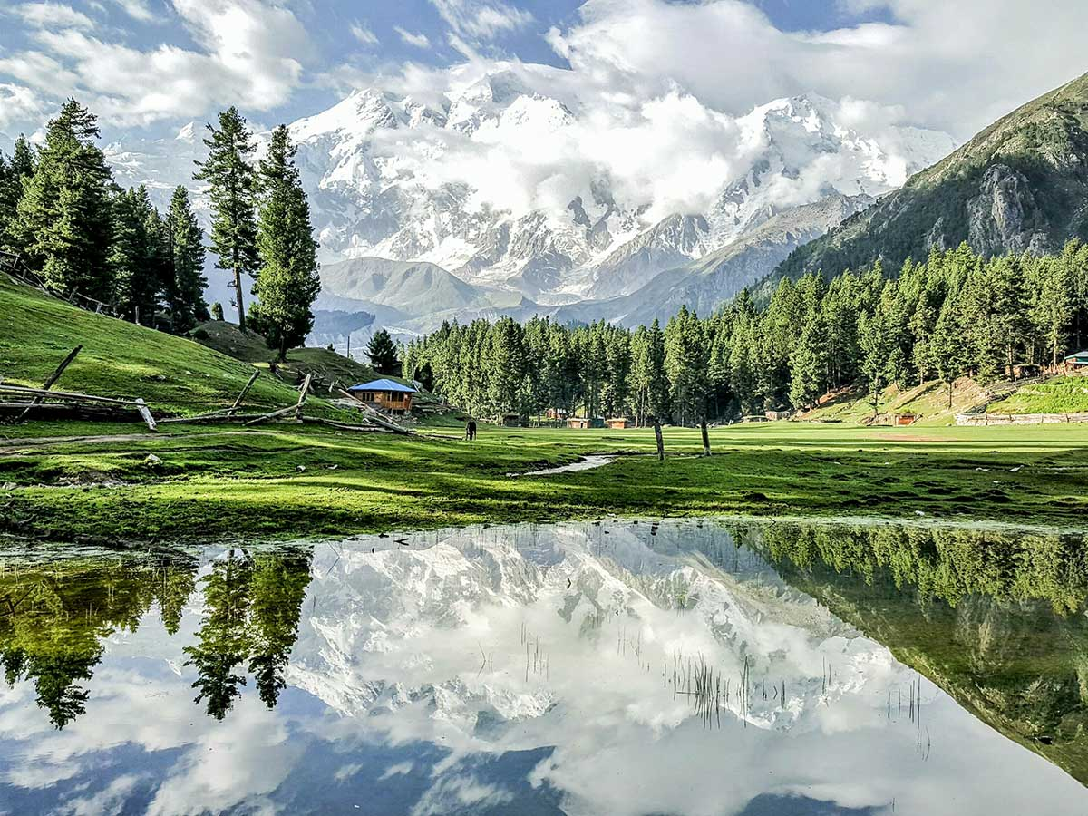 Mountain views on Fairy Meadows and Nanga Parbat Base Camp Tour in Pakistan
